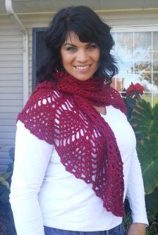 Pineapple shawl scarf2