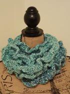 Ruffle yarn scarf