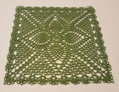 Green 9 inch square doily