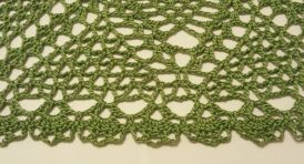 Green 9 inch square doily2